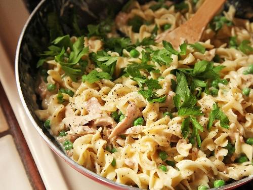 Easy One-Pot, No-Knife, Lighter Tuna Noodle Casserole Recipe