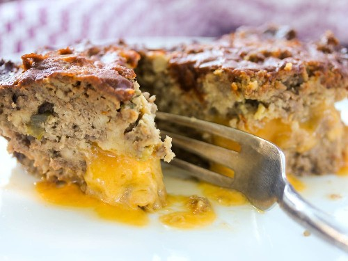 Cheddar-Stuffed Jalapeño Meatloaf with Chili Glaze Recipe