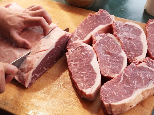 Knife Skills: How to Cut a Whole Beef Strip Loin Into Steaks