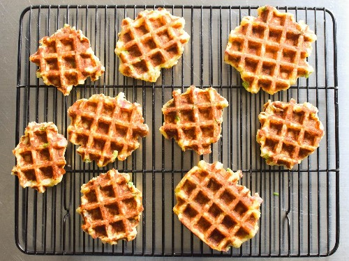 Waffled Mashed Potatoes With Bacon, Scallion, and Cheddar Recipe