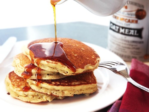 Oatmeal and Brown Butter Pancakes Recipe