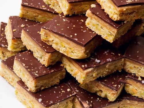 A Cookie a Day: Punchy Pistachio Millionaire's Shortbread