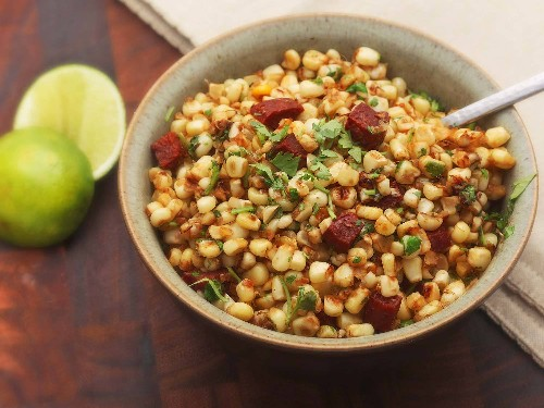 Easiest Summer Ever: Corn, Chorizo, Cilantro, and Lime