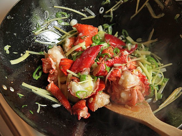 Cantonese-Style Lobster with Ginger and Scallions Recipe