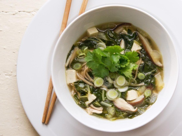 Meat Lite: Soba Noodle Soup With Chicken, Tofu, and Bok Choy