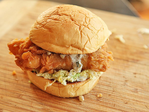 Fried Fish Sandwiches With Creamy Slaw and Tartar Sauce Recipe