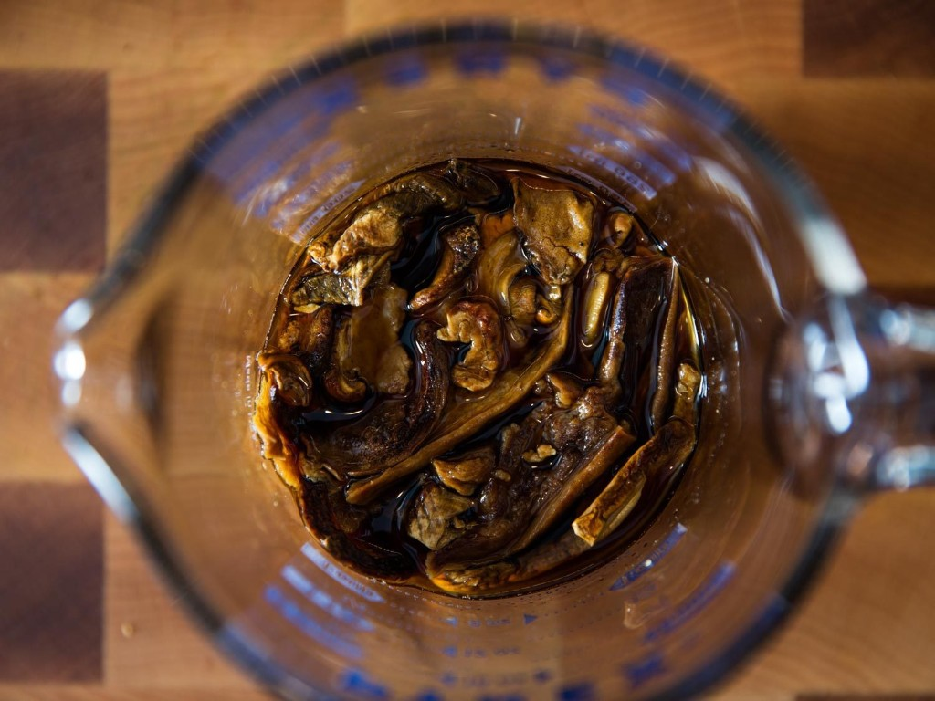 Soak Dried Mushrooms in Wine or Stock for More Flavor (and Efficiency)