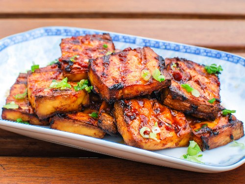 Cuisines Collide in This Grilled Tofu With Chipotle-Miso Sauce