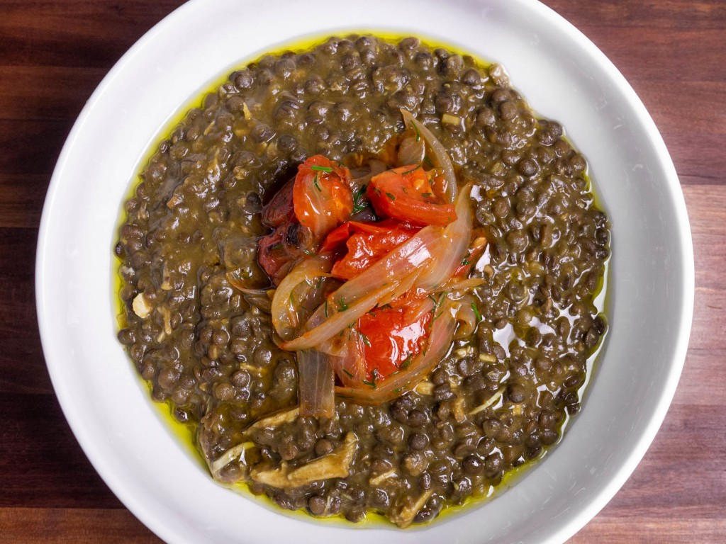 Chicken and Lentil Stew With Tomatoes and Onions Recipe