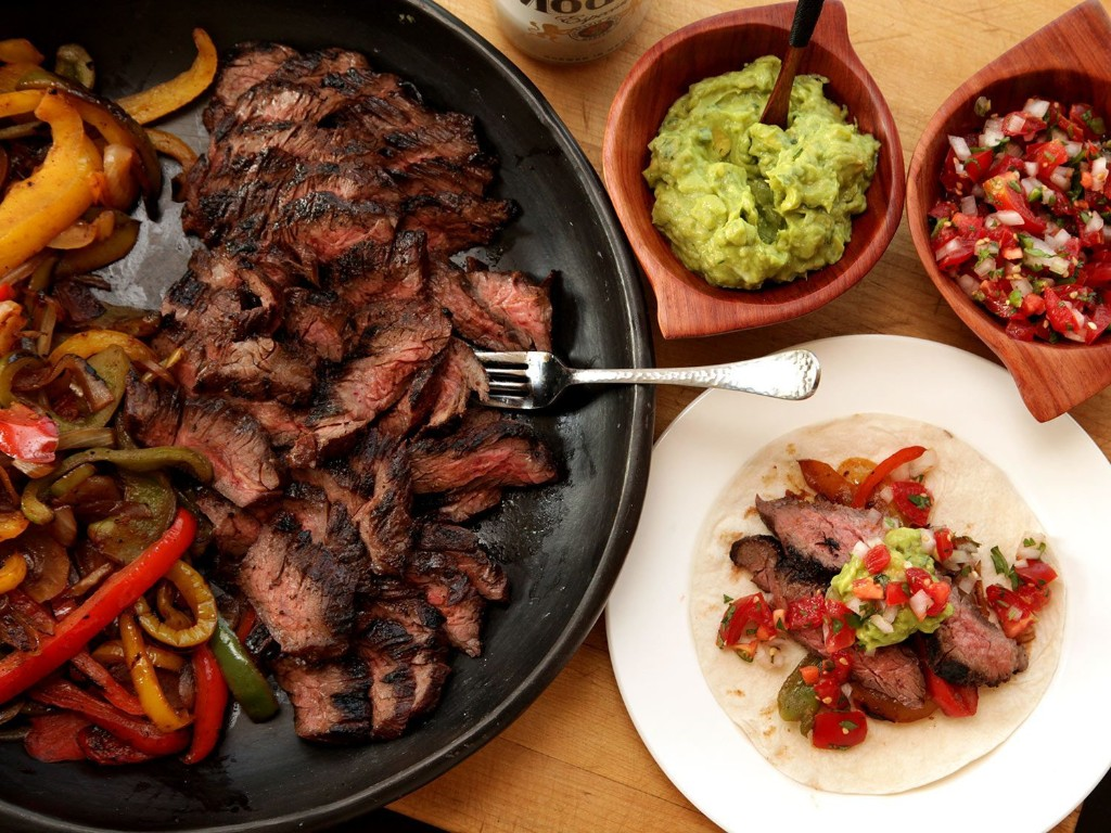 Grilled Skirt Steak Fajitas Recipe