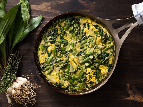 Easy Italian: Spring Frittata With Asparagus and Ramps