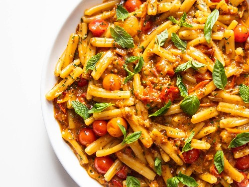 Pasta With Burst Cherry Tomatoes and XO Sauce Recipe
