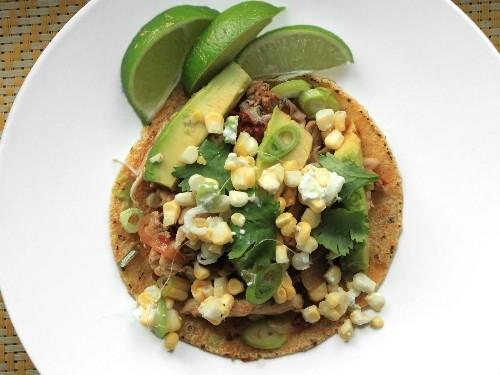 Spicy Chicken Tacos With Corn, Feta, and Avocado Recipe