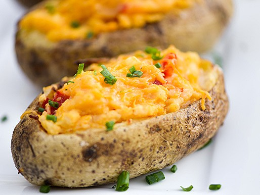 Grilling: Pimento Cheese Twice-Baked Potatoes