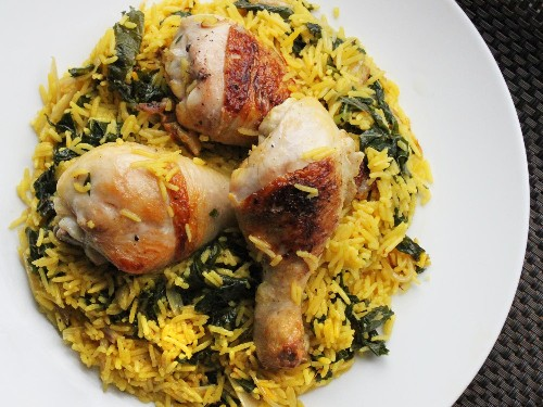 Lemon Chicken and Rice With Kale Recipe