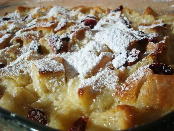Cranberry White Chocolate Bread Pudding Recipe