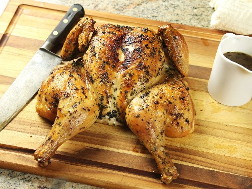 Spatchcocked (Butterflied) Roast Chicken With Quick Jus Recipe