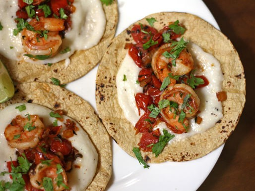 Dinner Tonight: Shrimp and Grits Tacos