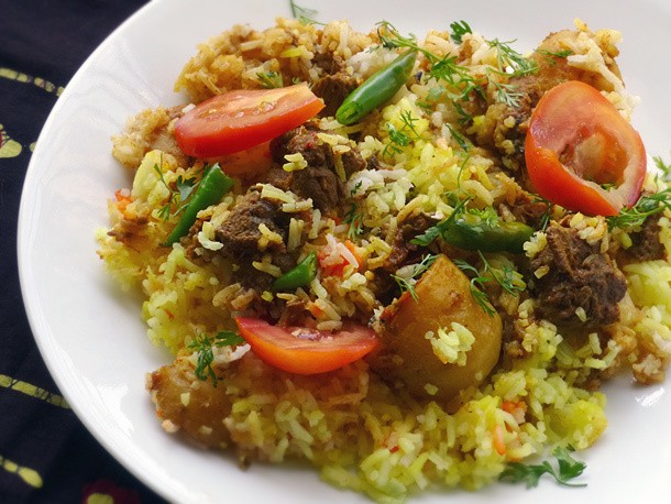 Beyond Curry: Lamb or Chicken Biryani