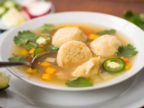 Mexican Masa-Ball Soup, or, How a Silly Pun Led to a Really Tasty Dish