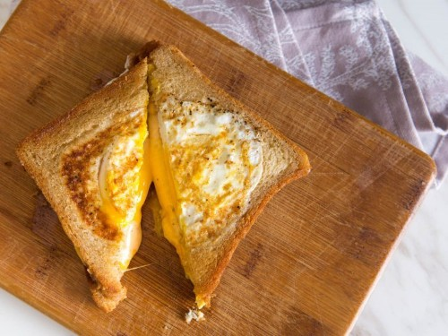 The Grilled Cheese Eggsplosion (Grilled Cheese With Fried Eggs Cooked Into the Bread) Recipe