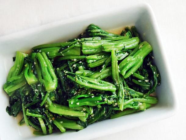 Stir-Fried Choy Sum With Minced Garlic Recipe