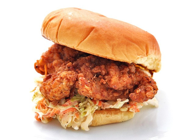 Fried Chicken and Coleslaw Sandwiches Recipe