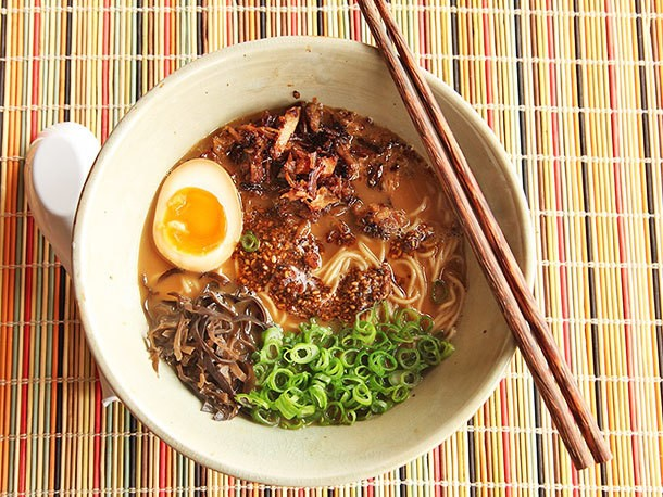 Miso Ramen With Crispy Pork and Burnt Garlic-Sesame Oil Recipe