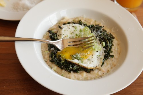 Cheesy Mashed White Beans With Kale, Parmesan, and a Fried Egg Recipe