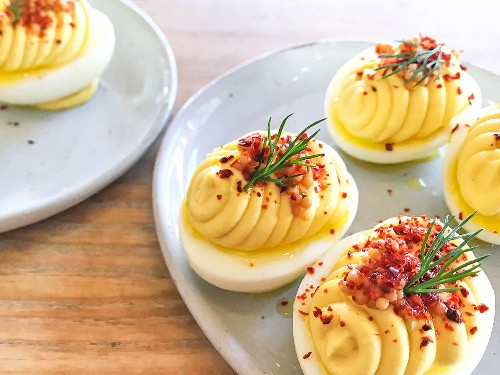 Double Down on Mustard for These Deviled Eggs From Wursthall