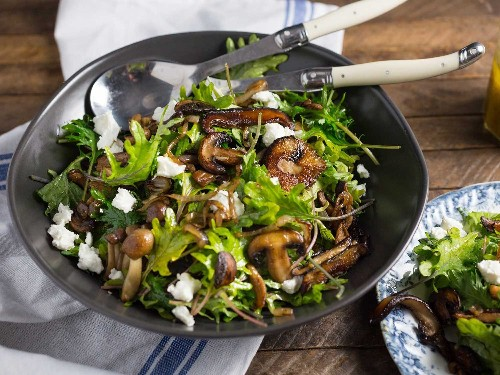 Warm Kale and Caramelized Mushroom Salad Recipe