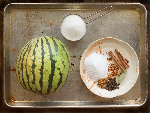 Sip Your Kitchen Scraps: Fizzy Ginger Cocktail With Pickled Watermelon Rind