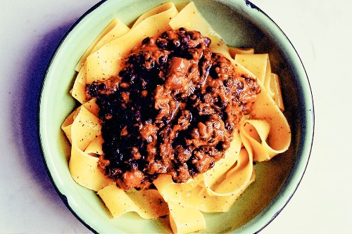 Lentil Bolognaise From 'Eat: The Little Book of Fast Food'