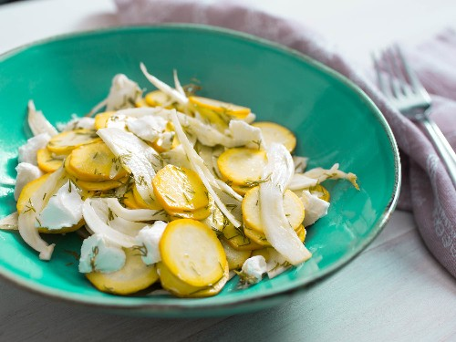 Easiest Summer Ever: Squash Salad With Goat Cheese and Dill