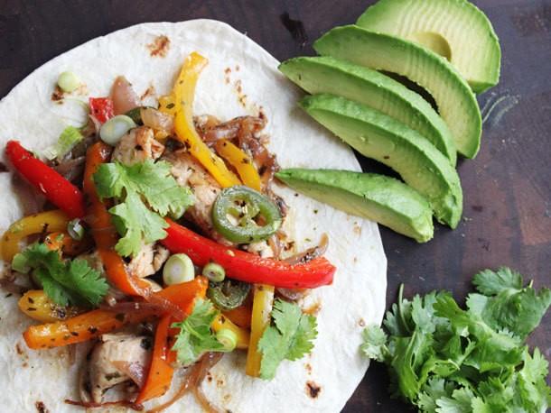 Skillet Chicken Fajitas with Avocado Recipe