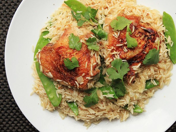 Coconut Rice With Chicken Thighs Recipe