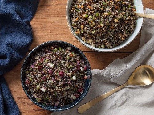 Two Riffs on Wild Rice Salad for Thanksgiving