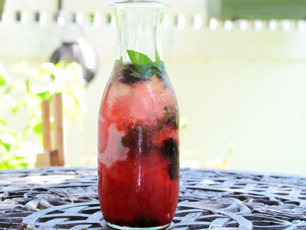 Honey Blackberry Shrub Punch Recipe