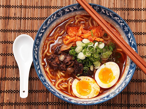 Homemade Shin Cup-Style Spicy Korean Ramyun Beef Noodle Soup Recipe