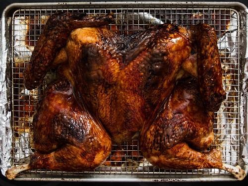 Chinese Red-Sauce-Glazed Spatchcocked Turkey Recipe