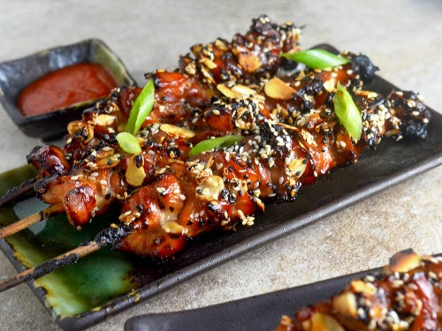 Fire up the Grill for These Crispy Caramel Chicken Skewers