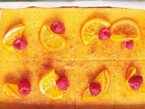 "Orange & Almond Tray Bake From ""The Ginger & White Cookbook"""
