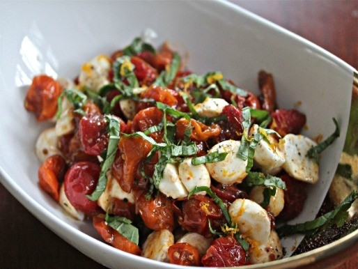 Oven-Roasted Tomato Caprese Salad