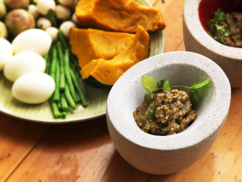 Nam Phrig Noom (Northern Thai Pounded Roasted Chili Dip) Recipe