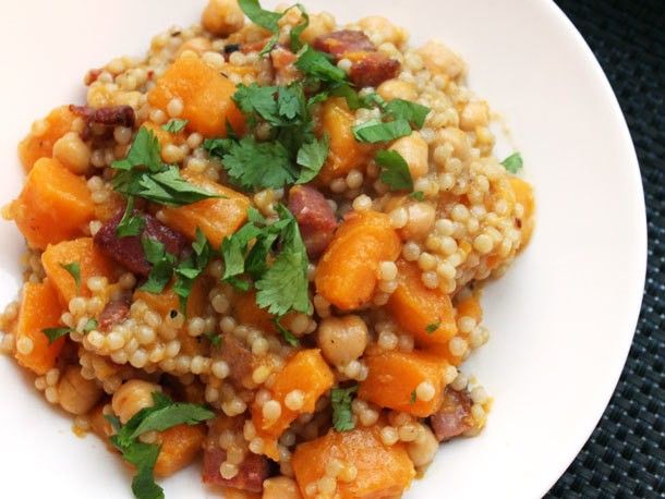 Couscous With Crispy Pancetta and Butternut Squash Recipe