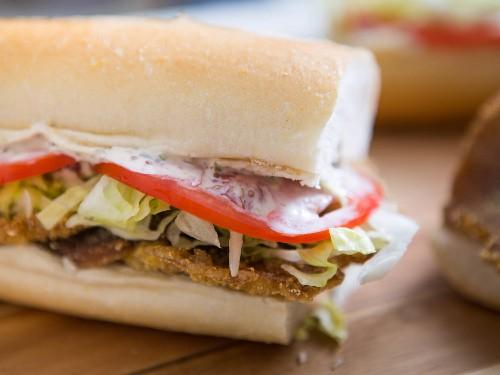 The Meaty Magic of Vegetarian Fried Shiitake Po' Boys