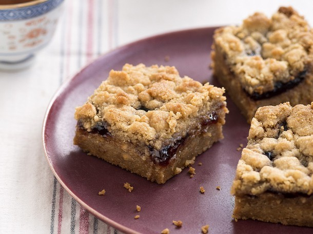 Bake the Book: Peanut Butter and Jam Bars