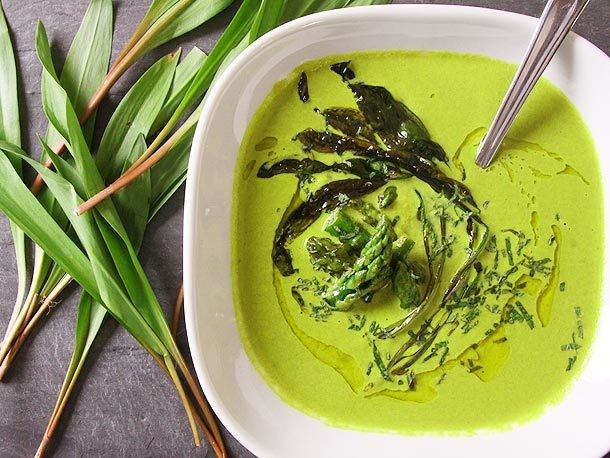Asparagus and Ramp Soup With Yogurt Recipe