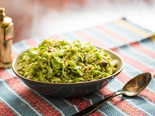 Salt-Rubbed Brussels Sprouts Make a Salad That's Both Tender and Crisp