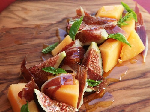Easiest Summer Ever: Five-Minute Fig, Melon, and Jamón Serrano Salad